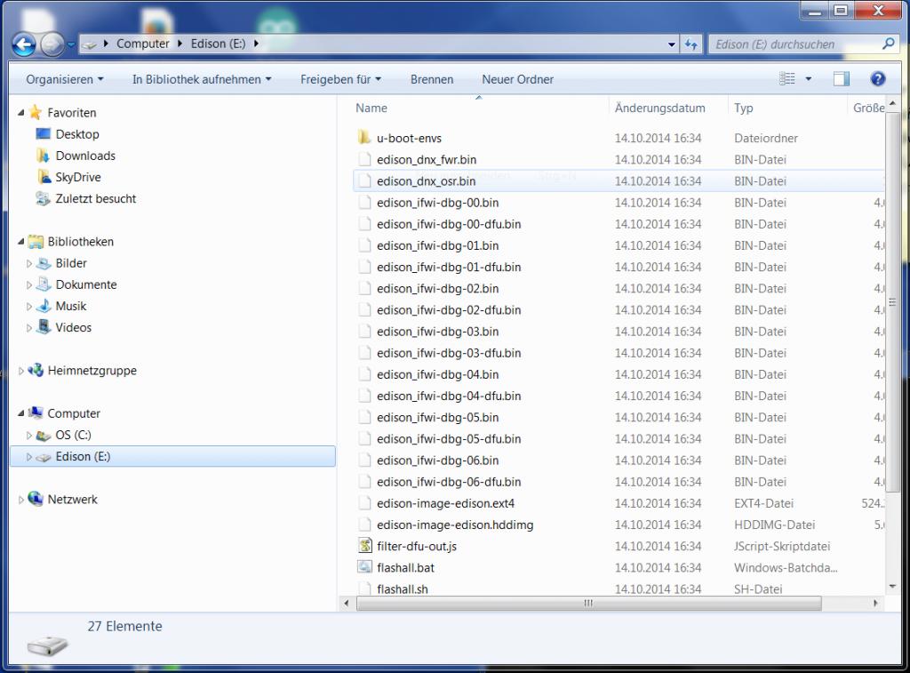 Dateiinhalt des Edison