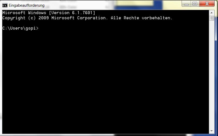 Windows Kommandozeile